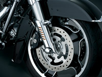Kuryakyn Chrome Leg Deflector Shield with Fender Boss Covers