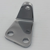 Chrome Bracket for Rear Upper Belt Guard