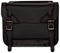 Carroll Leather Croc Print Saddlebag