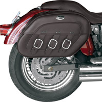 Saddlemen S4 Quick-Disconnect Drifter Saddlebags with LED Marker Lights