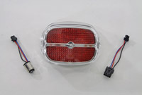 V-Twin Manufacturing Chrome Tail Lamp with Red LED