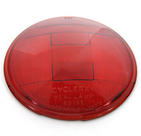 V-Twin Manufacturing Replica Headlamp Glass Lens Red