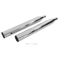 Wyatt Gatling Chrome Muffler Set with Black 6-Screw End Tips