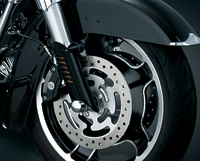 Kuryakyn Gloss Black Leg Deflector Shields for Touring Models