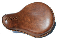 LaRosa Design Distressed Brown Leather Solo Seat
