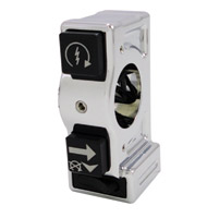 Joker Machine J-Tech 3 Button Right Chrome Switch Housing