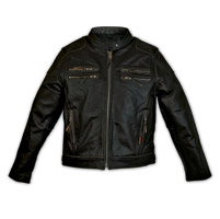 Carroll Leather Black Distressed Men's Gangster Jacket