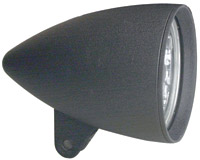 Headwinds 4-1/2″ Matte Black Concours Rocket Headlight