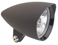 Headwinds 4-1/2″ Matte Black Mariah Concours Rocket Headlight