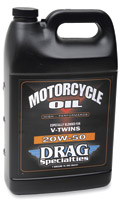 Drag Specialties 25W-50 Motorcycle Oil, Gallon