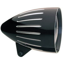 Headwinds 5-3/4″ Black Revolver Rocket Headlight