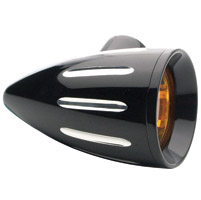 Headwinds 1-3/8″ Black Revolver Rocket Turn Signal