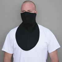 ZAN headgear Neoprene 1/2 Face Mask with Neoprene Neck Shield, Black