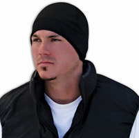 ZAN headgear Cold Weather Microfleece Helmet Liner Black