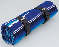 La Raza Roll-up Blue Blanket with Greca Black Roll Strap