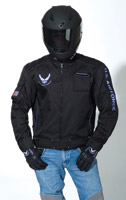 Joe Rocket Airforce Alpha Black Textile Jacket