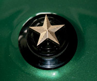 NYC Choppers Brass Nautical Star Gas Cap