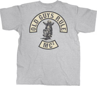 Old Guys Rule Storm Gray Albert Einstein Motorcycle Club T-Shirt