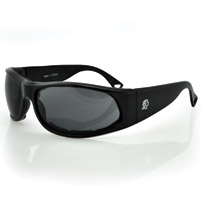 ZAN headgear California Black Sunglasses with Smoke Lens and Foam Seals