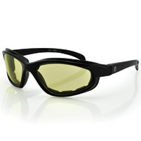 ZAN headgear Arizona Black Sunglasses with Yellow Lens and Foam Seals