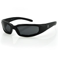ZAN headgear New York Black Sunglasses with Smoke Lens and Foam Seals