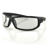ZAN headgear AXL Black Sunglasses with Clear Lens
