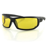 ZAN headgear AXL Black Sunglasses with Yellow Lens
