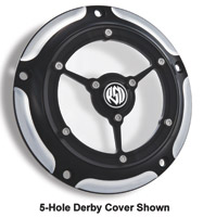 Roland Sands Design Contrast Cut Clarity Derby Cover, 3-Holes