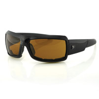 Bobster Trike Black Sunglasses with Amber Lens