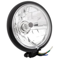 Black Bottom Mount 5-3/4″ Headlight Assembly