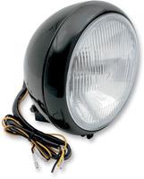 7″ Black Headlight Assembly