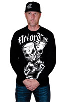MotorCult Pistskulls Black Long-Sleeve Shirt