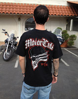 MotorCult Men's Headers Black T-Shirt