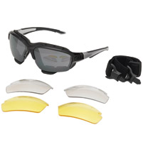 Chap'el Interchangeable Black Sunglasses