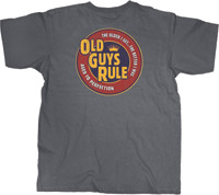 Old Guys Rule Cracker Charcoal T-Shirt