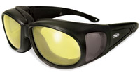Global Vision Eyewear Outfitter 24 Photochromic Black Sunglasses with Yellow Lens