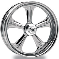 Performance Machine Wrath Chrome Rear Wheel, 18