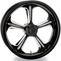 Performance Machine Wrath Platinum Contrast Cut Front Wheel, 18