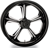 Performance Machine Wrath Platinum Contrast Cut Front Wheel, 21
