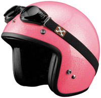 SparX Pearl Sparkle Hot Pink Open Face Helmet