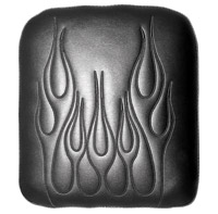X-Large Phantom Gel Vinyl Black Flame Embroidery Passenger Seat