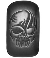 Small Solid Embroidery Vinyl Skull Black Passenger Seat