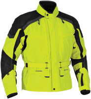 Firstgear Men's Kilimanjaro DayGlo/Black Textile Jacket