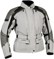 Firstgear Women's Kilimanjaro Silver/Dark Gray Textile Jacket