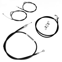 LA Choppers Black Cable/Brake Line Kit for 12