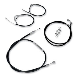LA Choppers Black Cable/Brake Line Kit for 18