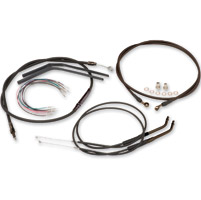 Burly Brand Black 12″ Ape Hanger Cable/Brake Kit