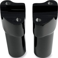 Milwaukee Twins Black Forged Aluminum 3-1/2″ Straight Risers for 1″ Bars