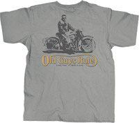 Old Guys Rule Knucklehead Gray T-shirt