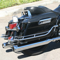 LA Choppers Tru-Power Chrome Slip-On Muffler Set With Chrome Stealth Tips